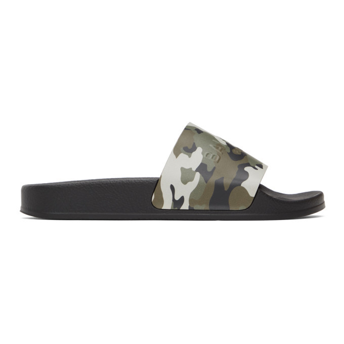 Photo: Balmain Green and Black Camo Calypso Sandals