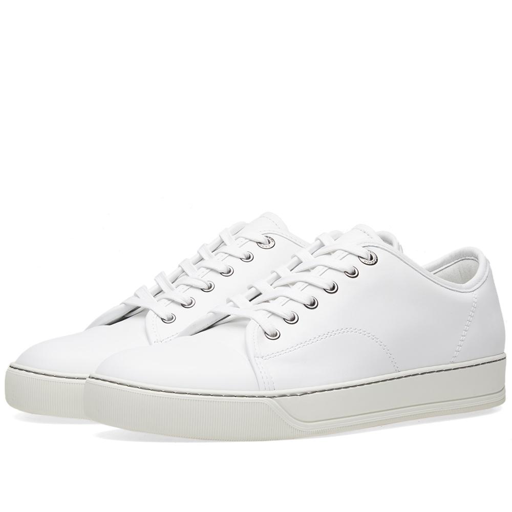 Photo: Lanvin Leather Toe Cap Sneaker White