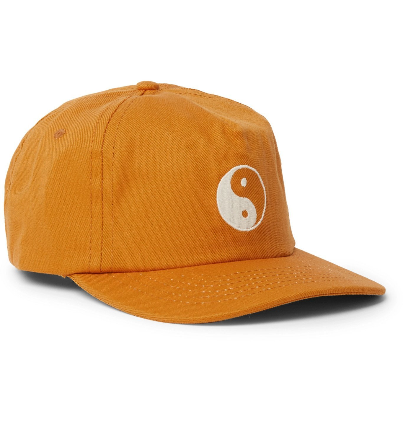 Photo: Mollusk - Duality Embroidered Cotton-Twill Baseball Cap - Orange