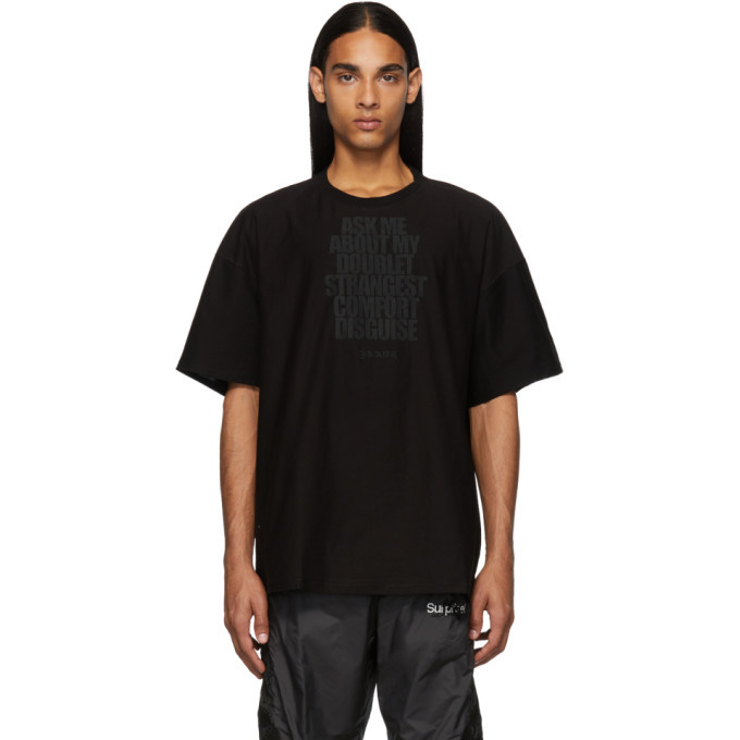 Photo: Doublet Black Disguise Embroidery T-Shirt