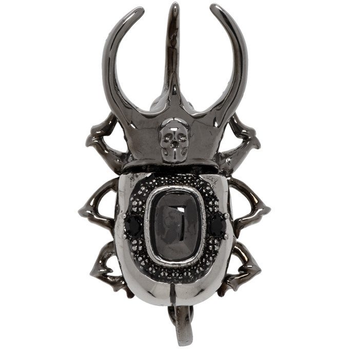 Photo: Alexander McQueen Silver Beetle Earring