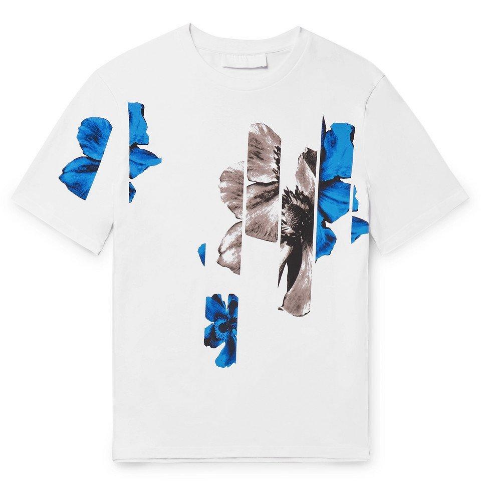Photo: Neil Barrett - Printed Stretch-Cotton Jersey T-Shirt - White