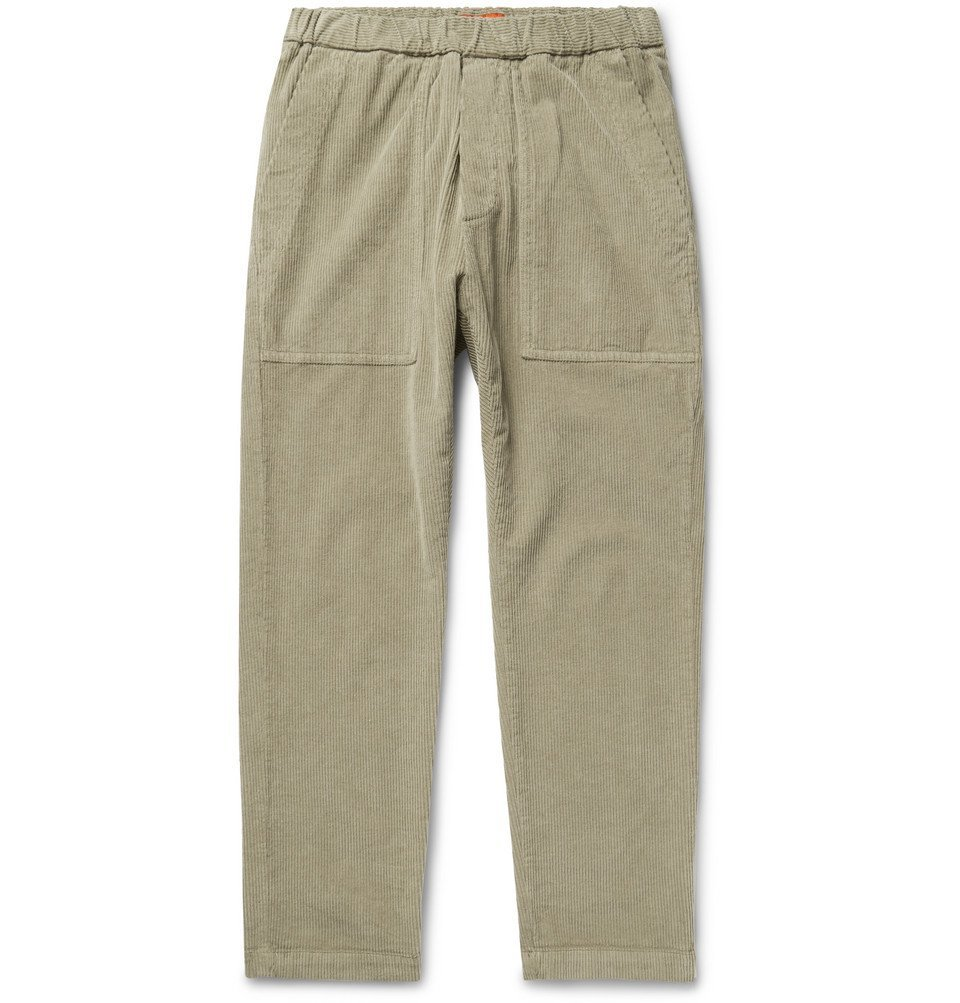 Photo: Barena - Tapered Stretch-Cotton Corduroy Trousers - Beige