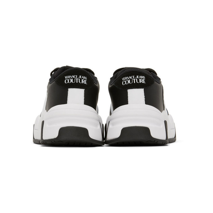 Versace Jeans Couture White and Black Fire1 Sneakers