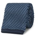 Dunhill - 6.5cm Knitted Mulberry Silk Tie - Men - Blue