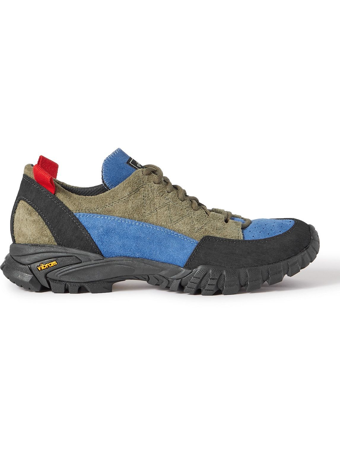 Photo: Diemme - Possagno Panelled Suede Sneakers - Blue