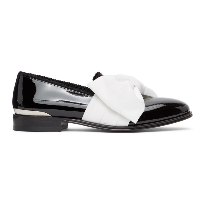 Photo: Alexander McQueen Black and White Leather Loafers