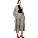 3.1 Phillip Lim Black and White Oversized Long Trench Coat