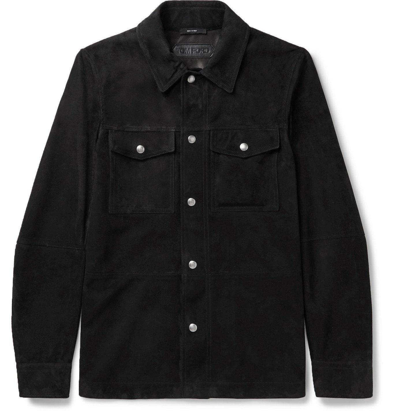 Photo: TOM FORD - Suede Shirt Jacket - Black