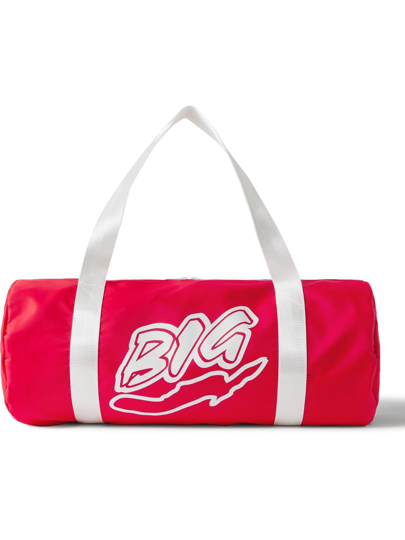 Photo: Y,IWO - Logo-Print Nylon Duffle Bag