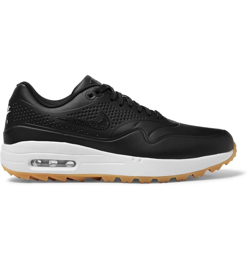Photo: Nike Golf - Air Max 1G Faux Leather and Rubber Golf Shoes - Black