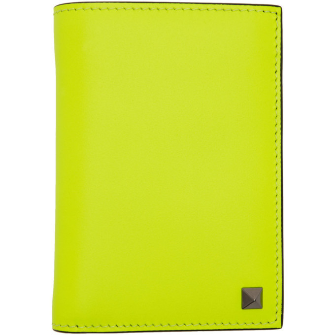 Photo: Valentino Yellow Valentino Garavani Rockstud Pocket Organizer