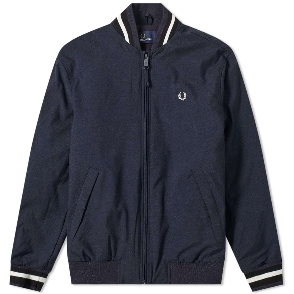 Photo: Fred Perry Marl Bomber Jacket Navy