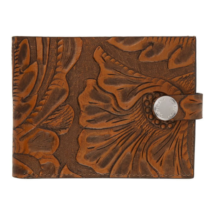 Photo: Our Legacy Brown Engraved Flowers Wallet