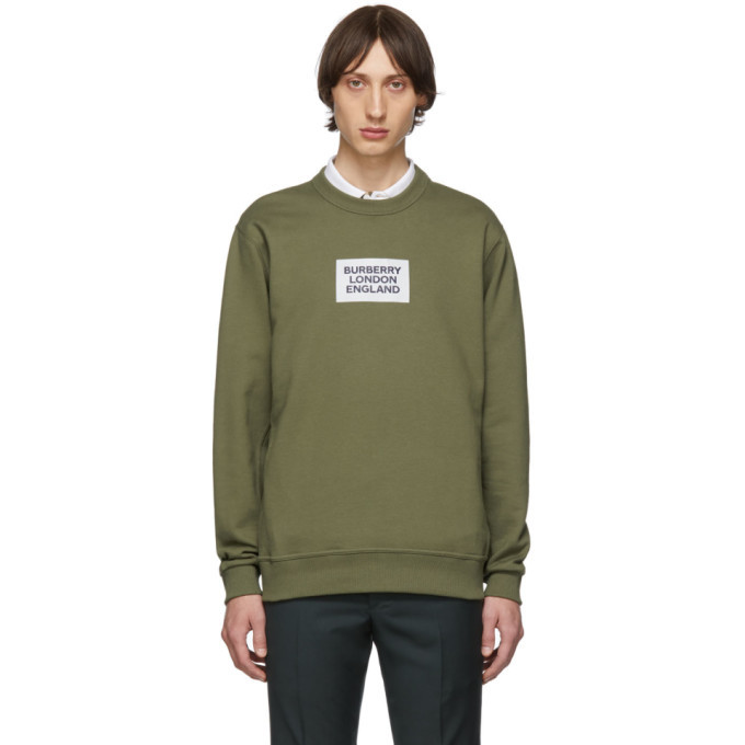 Photo: Burberry Khaki Square Logo Sweatshirt