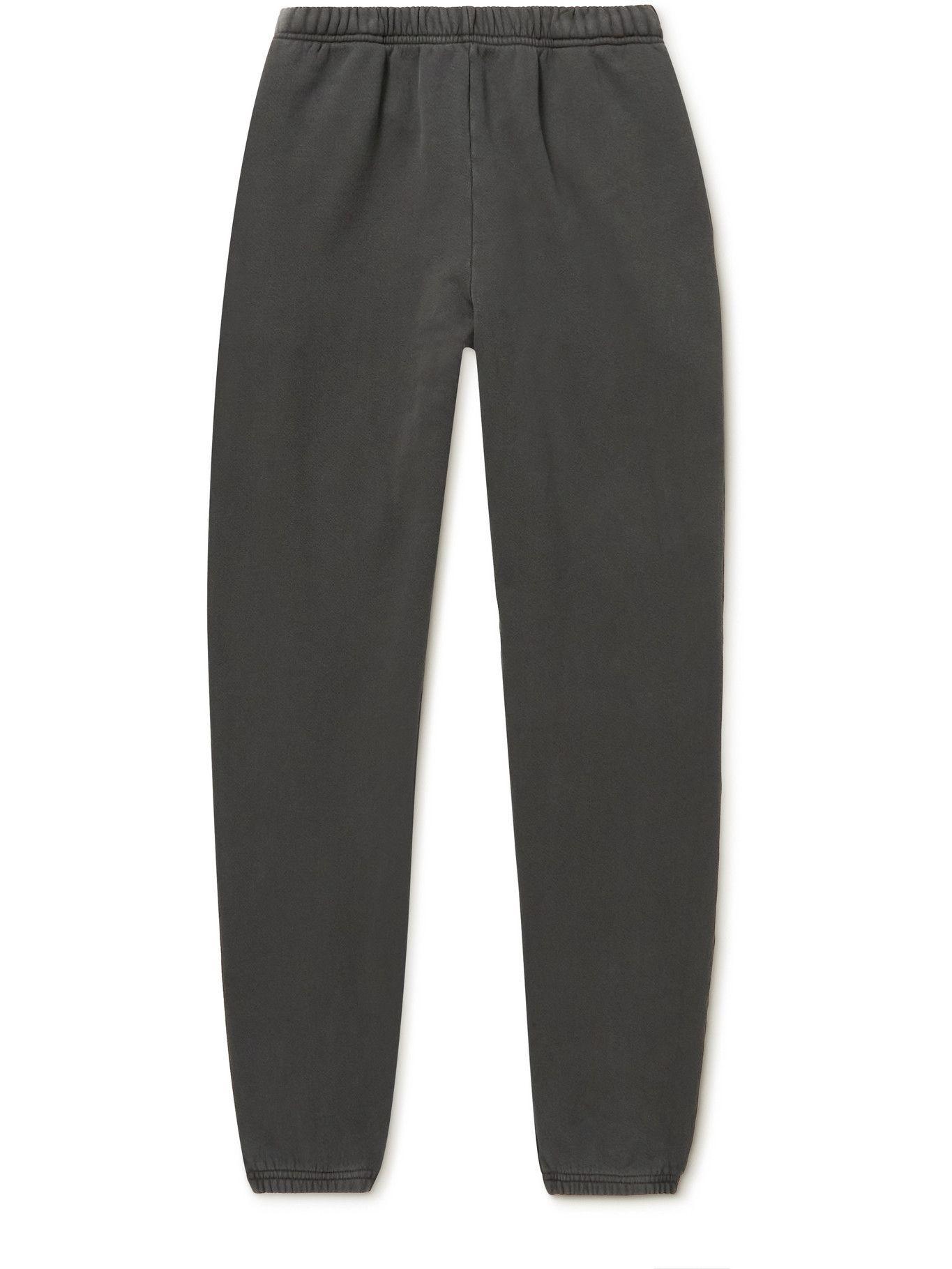 Photo: Les Tien - Garment-Dyed Fleece-Back Cotton-Jersey Sweatpants - Unknown