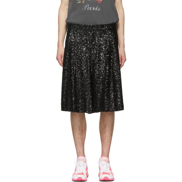 Photo: Comme des Garçons Homme Plus Black Sequin Shorts