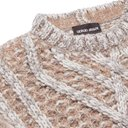 Giorgio Armani - Cable-Knit Cashmere, Mohair and Silk-Blend Sweater - Neutrals