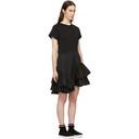 3.1 Phillip Lim Black Flamenco T-Shirt Dress