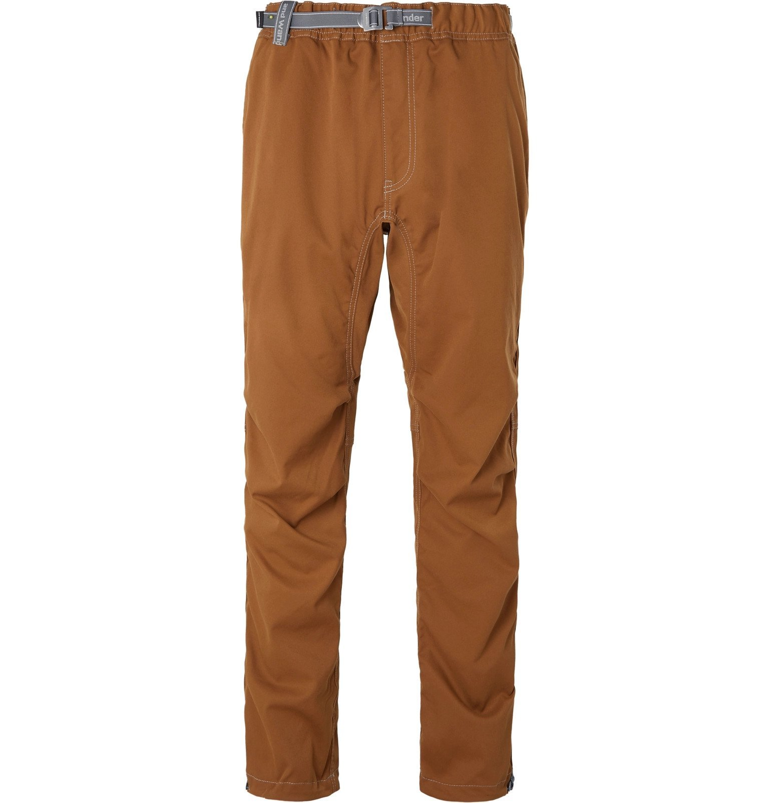 Photo: And Wander - Shell Climbing Trousers - Brown