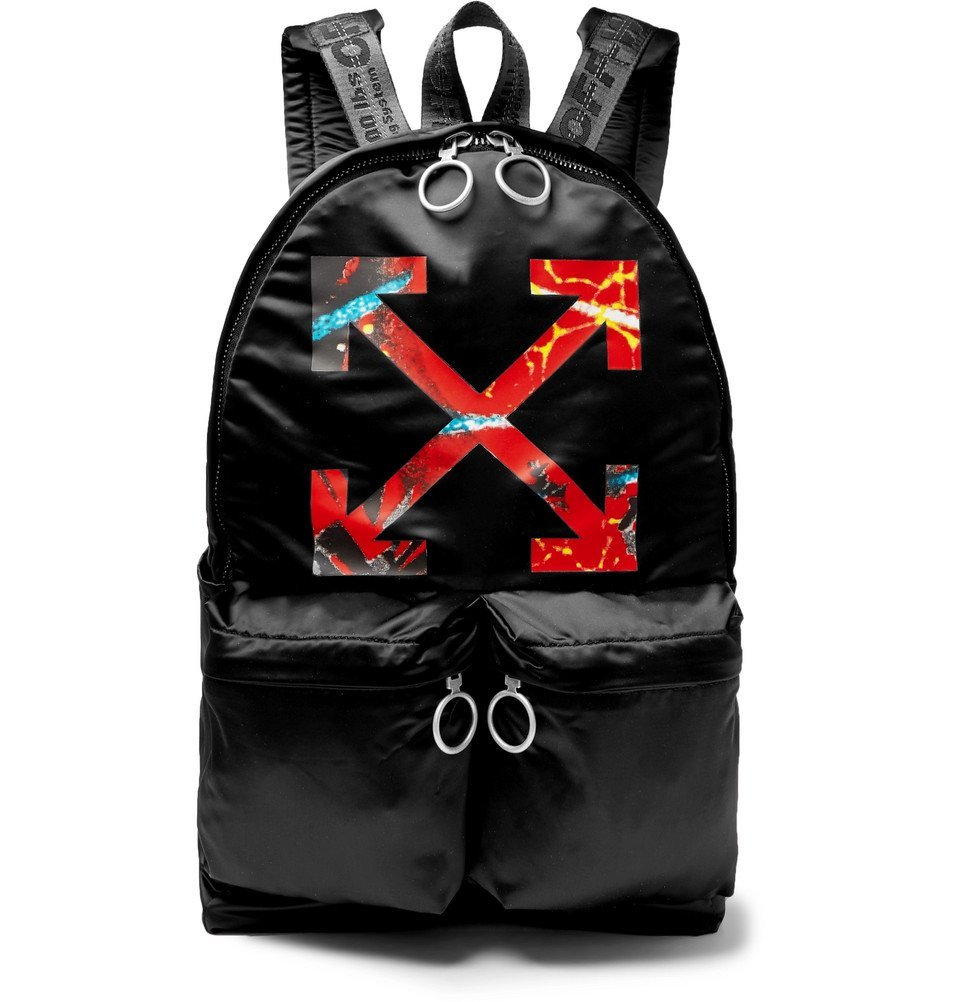 Photo: Off-White - Printed Satin Backpack - Black