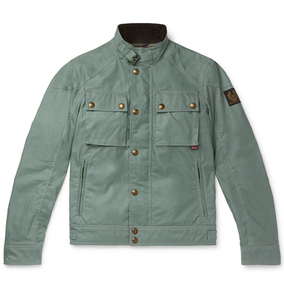 Belstaff - Racemaster Waxed-Cotton Jacket - Men - Gray green