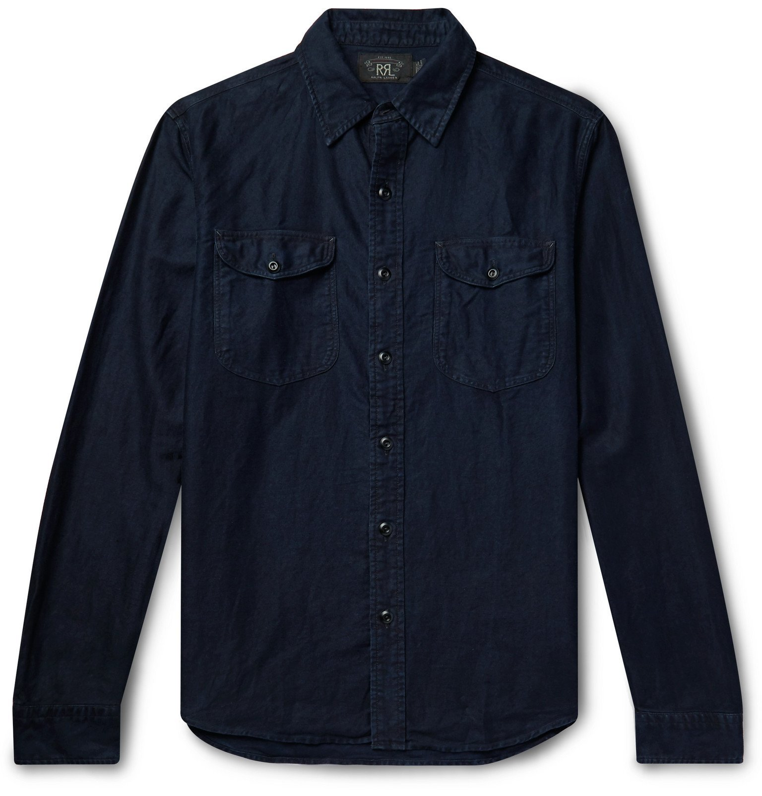 RRL - Cotton and Linen-Blend Shirt - Blue
