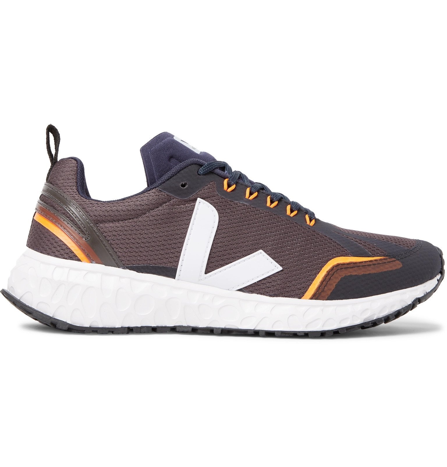 Photo: Veja - Condor Rubber-Trimmed Mesh Running Sneakers - Gray