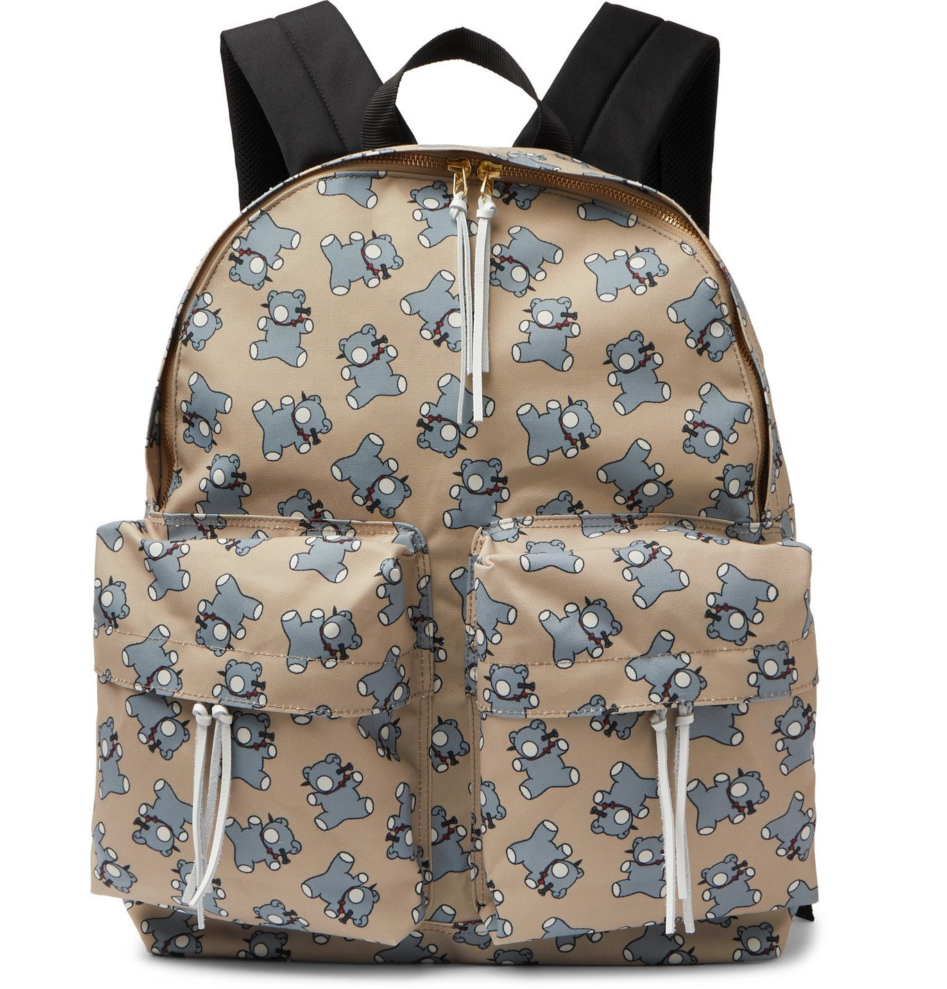 Photo: Undercover - Screwbear Printed Canvas Backpack - Neutrals