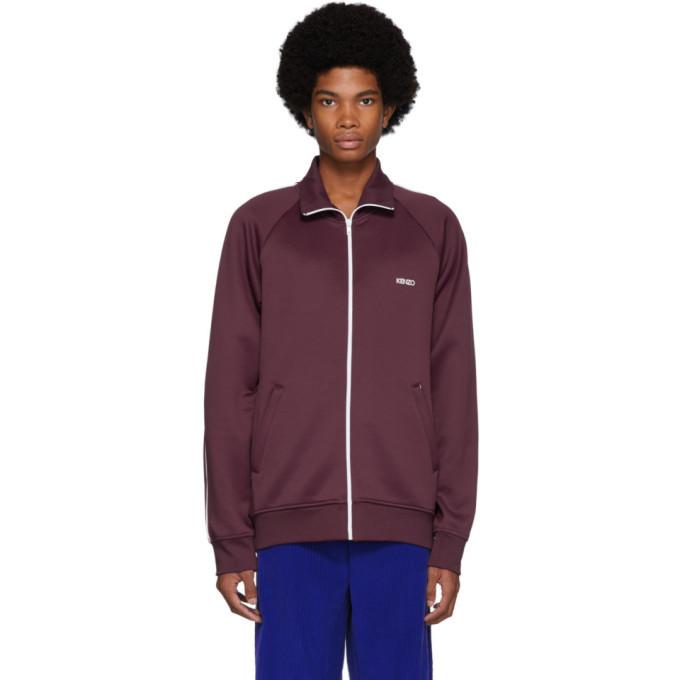 Photo: Kenzo Burgundy Zipped Track Jacket