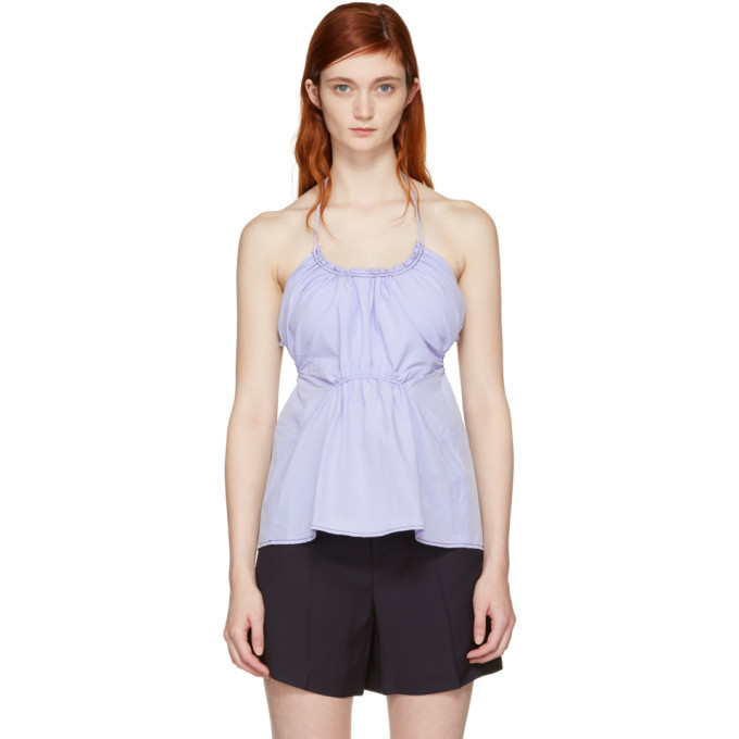 100% Original Sale Online Blue Gathered Tank Top 3.1 Phillip Lim 100% Guaranteed Online Many Kinds Of  Real For Sale Free Shipping Cheap Real KAB0aJZclb