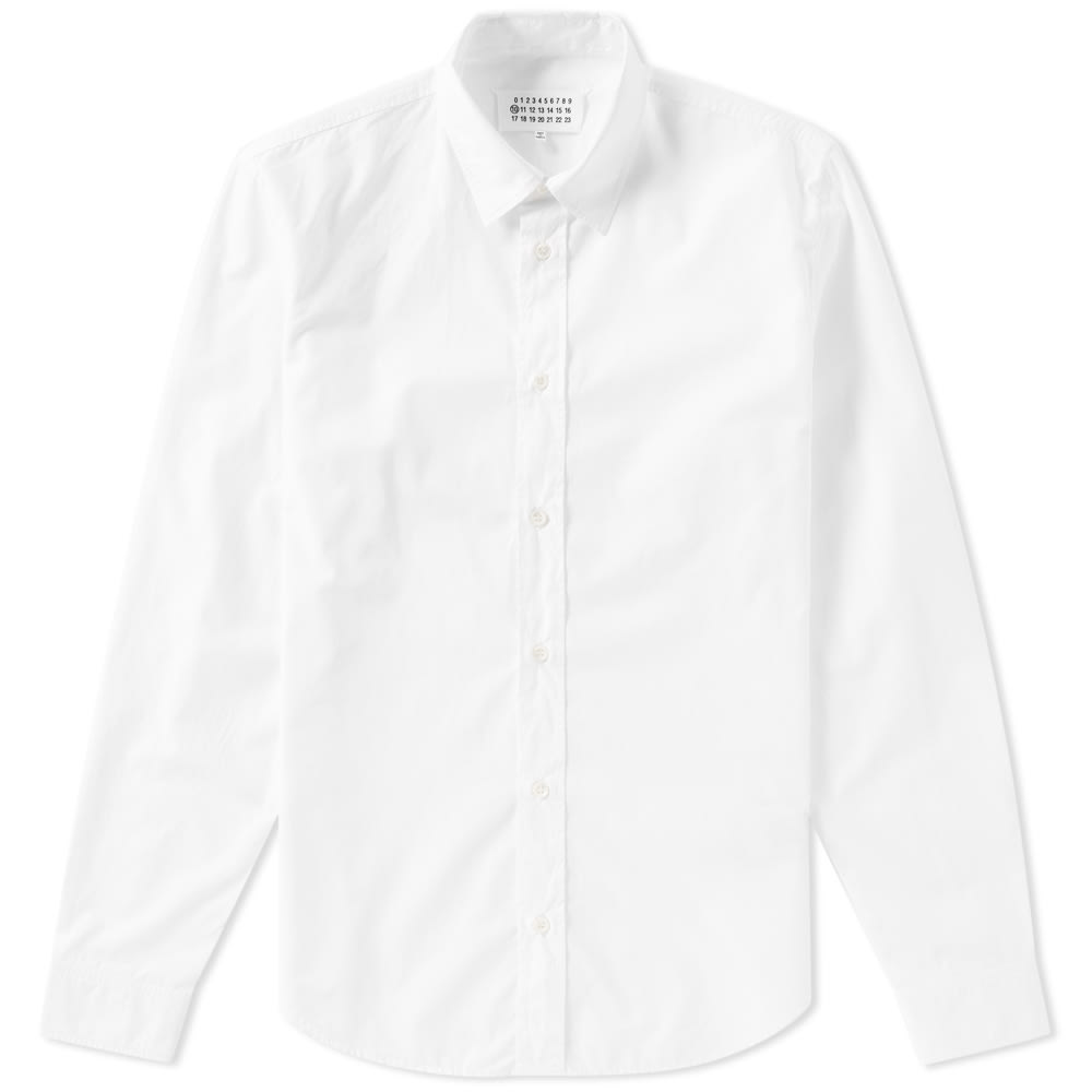 Slim-fit Garment-dyed Cotton-poplin Shirt - Light blueMaison Martin Margiela