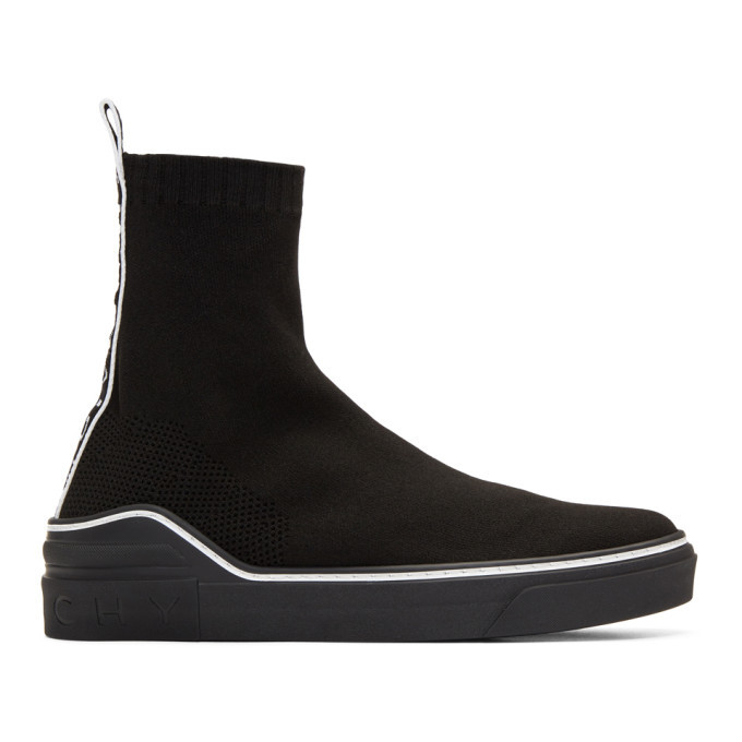 Photo: Givenchy Black George V Sock Sneakers