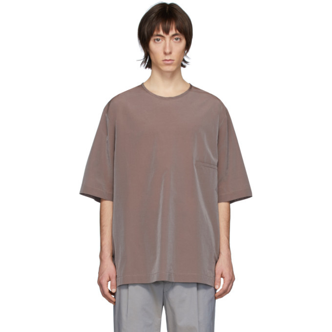 Photo: Lemaire Burgundy Half-Sleeve T-Shirt