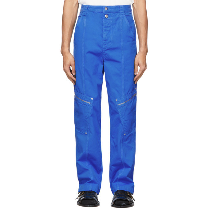 Photo: Eckhaus Latta Blue Utility Cargo Pants