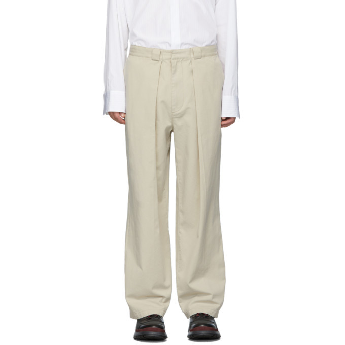 Photo: JW Anderson Beige Pleats Chinos