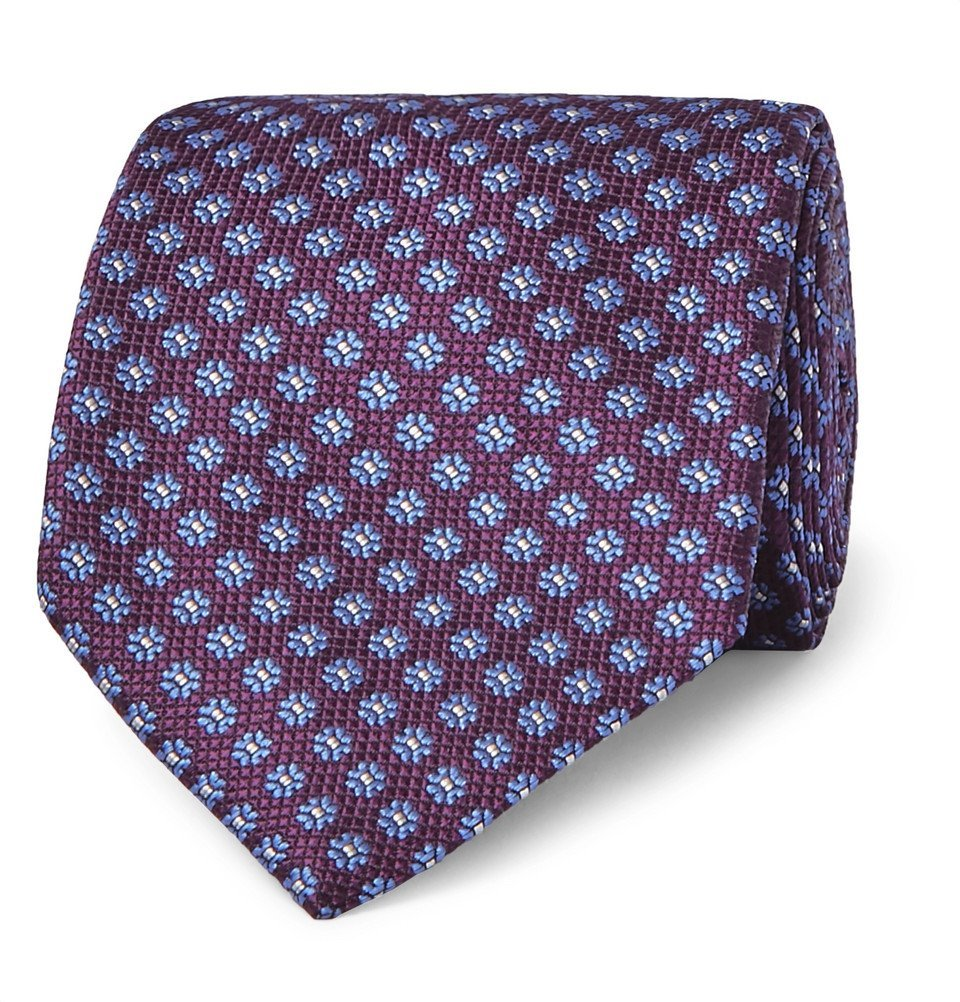 Photo: Canali - 8cm Floral Silk-Jacquard Tie - Purple