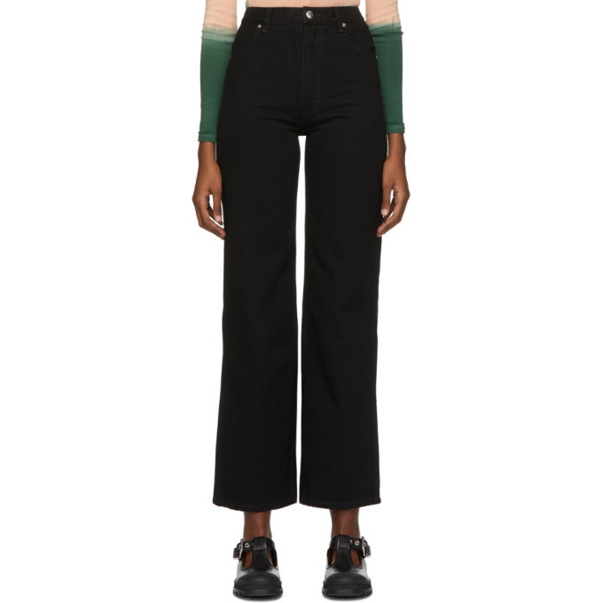 Photo: Eckhaus Latta Black Wide Leg Jeans