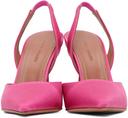 Amina Muaddi Pink Holli Sling Heels