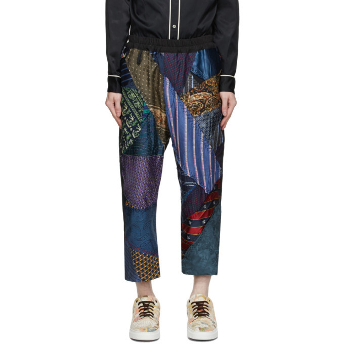 Photo: By Walid Multicolor Silk Tie Story Gerald Trousers