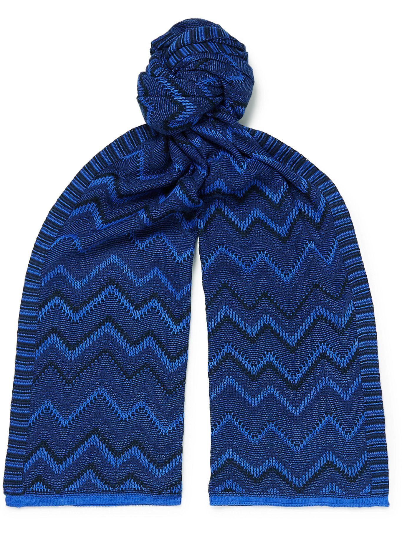 Photo: Missoni - Crochet-Knit Wool-Blend Scarf
