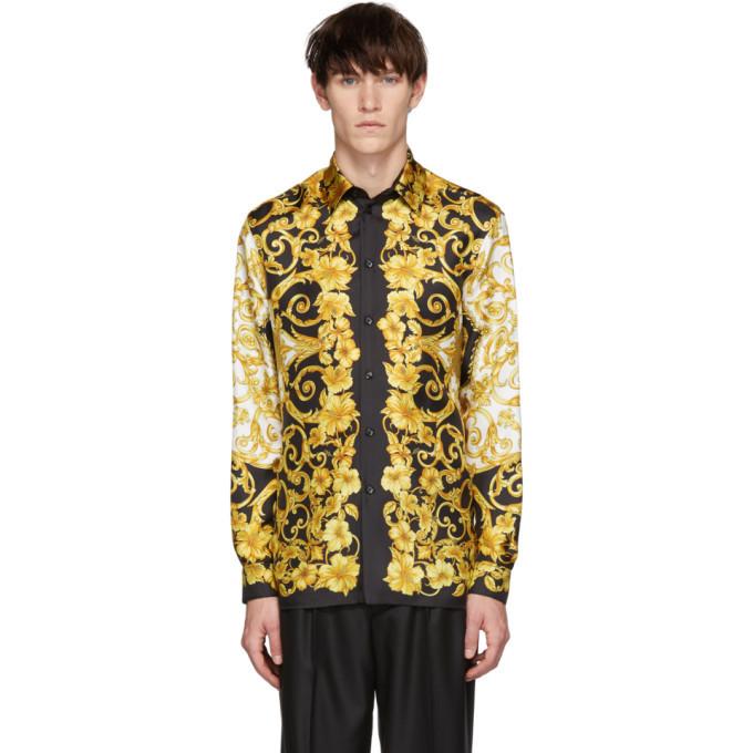Photo: Versace Gold Silk Barocco Shirt