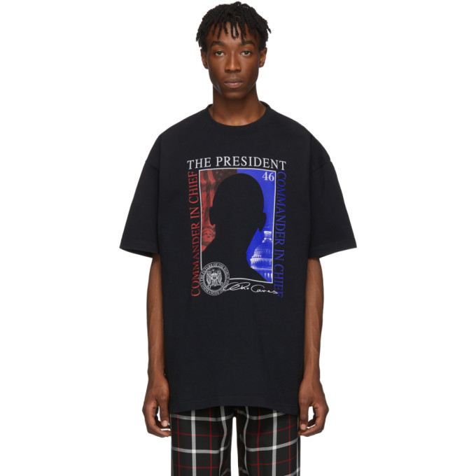 Photo: VETEMENTS Black The President T-Shirt