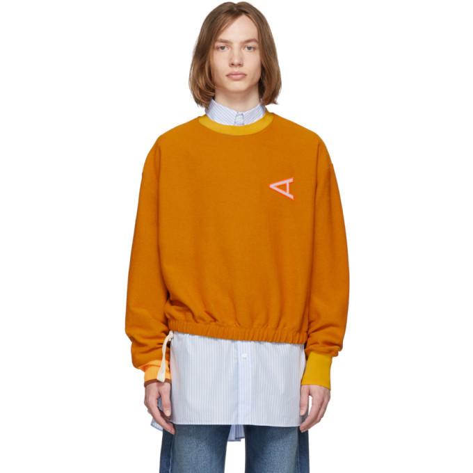 Photo: Acne Studios Yellow Febo Loops Sweatshirt