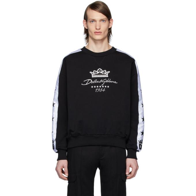 Photo: Dolce and Gabbana Black Millennials Star Sweatshirt