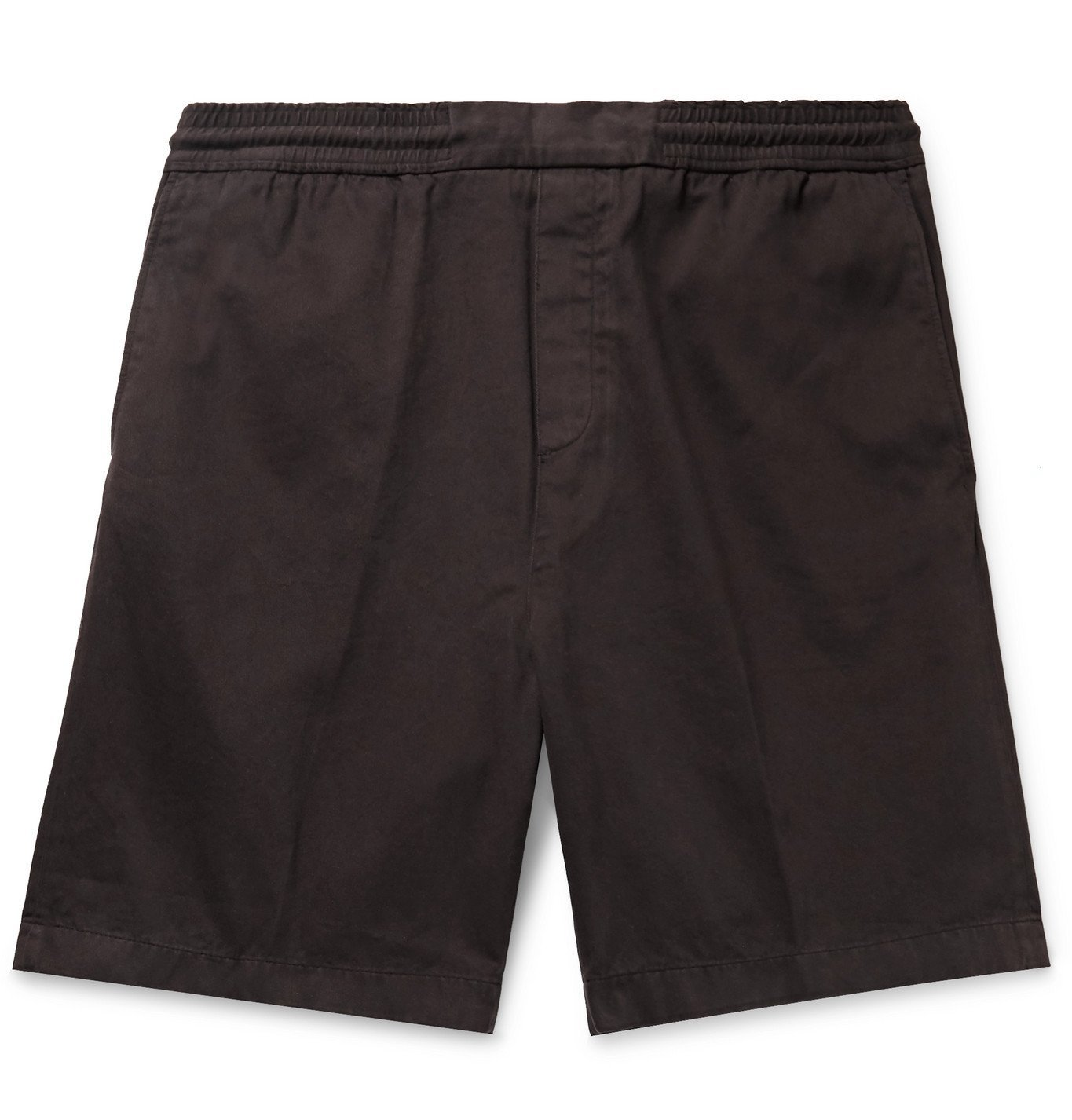 Photo: Acne Studios - Garment-Dyed Cotton-Twill Shorts - Brown