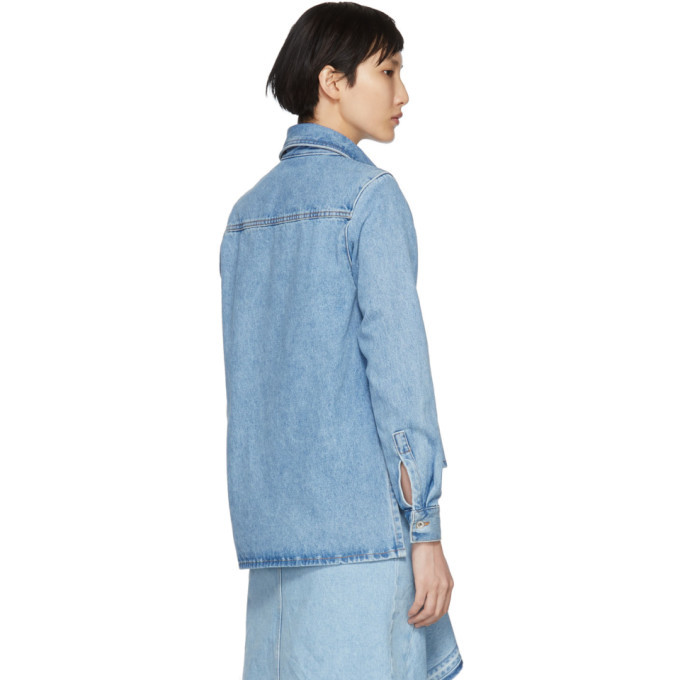 Blue Denim Crop Front Shirt Off-white Cheap Sale Manchester Buy Cheap Best Wholesale Cheap Original Free Shipping Hot Sale Discount Order CbgNY