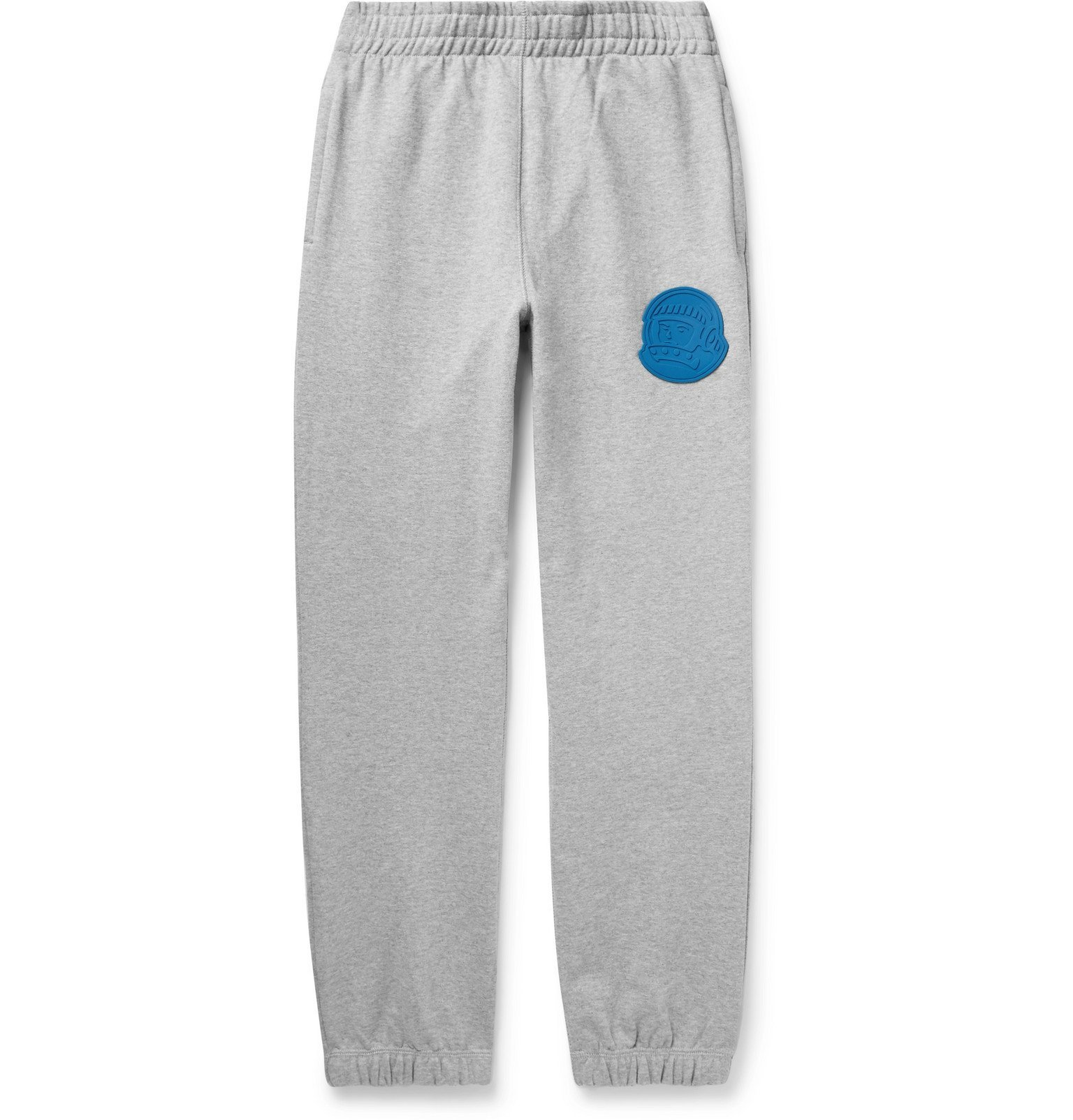 Photo: Billionaire Boys Club - Tapered Logo-Appliquéd Mélange Loopback Cotton-Jersey Sweatpants - Gray
