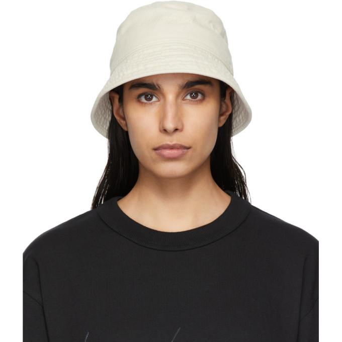 Photo: Y-3 Beige Logo Embroidered Bucket Hat