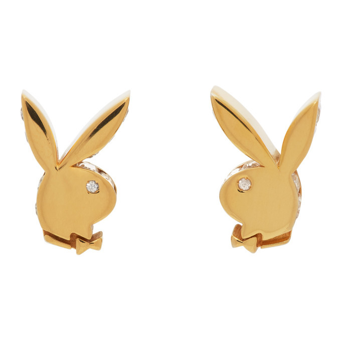 Photo: Hatton Labs Gold Playboy Edition Stud Earrings